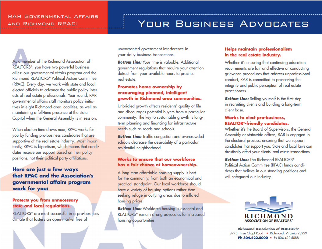 Why RPAC? Click to Share/Print the Brochure.