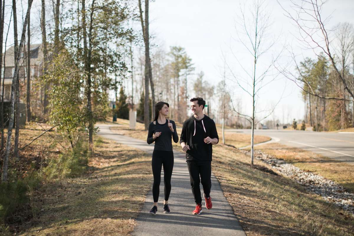 01 Couple - Neighborhood Trail - Run Walk Exercise - Family - Park.JPG