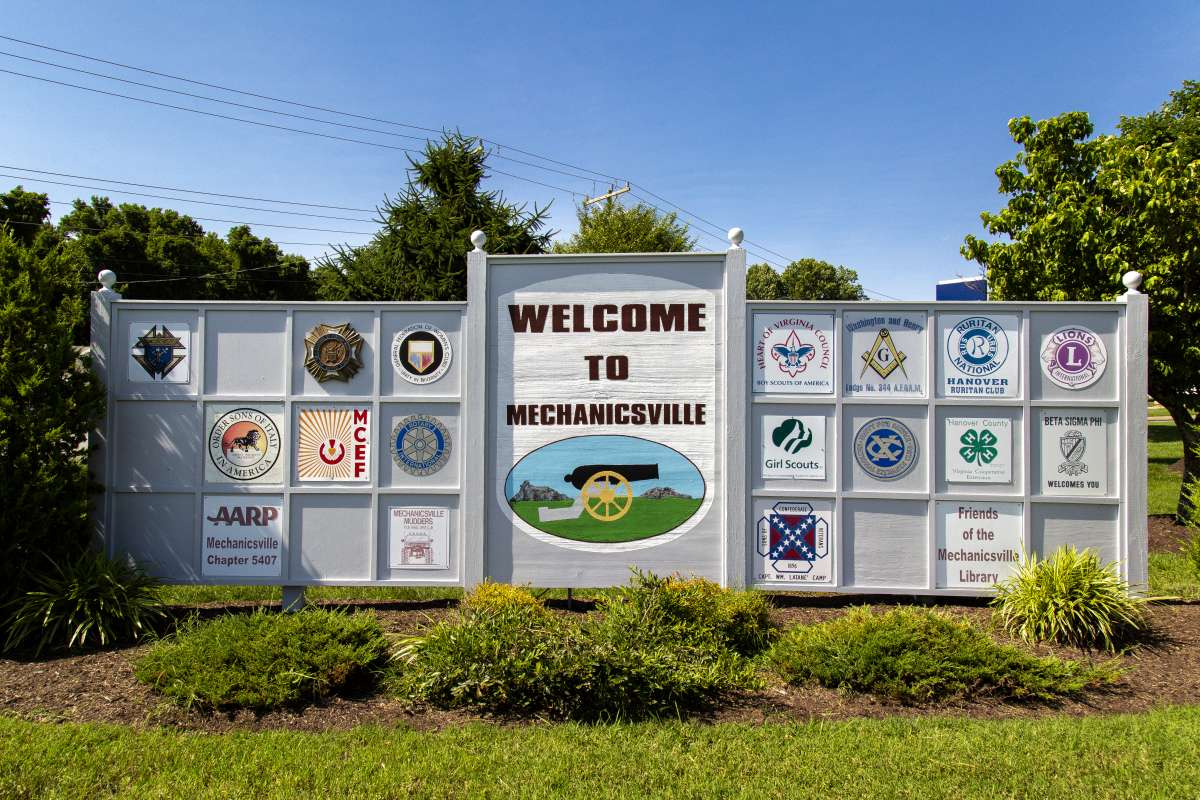 Welcome Mechanicsville Sign
