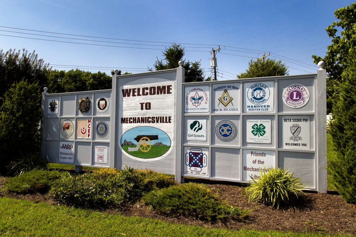 Welcome Mechanicsville Sign 02