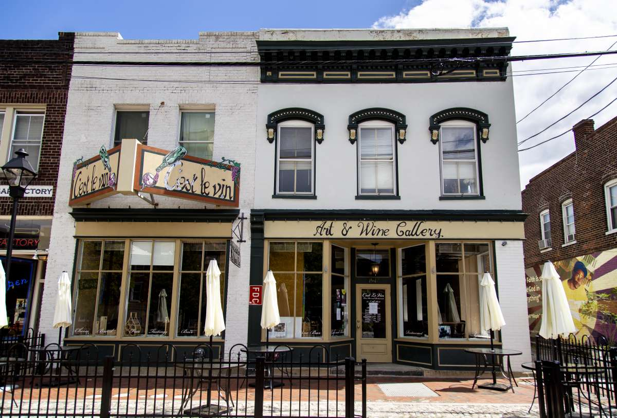 Richmond VA - Shockoe Bottom Neighborhood - Cest Le Vin Restaurant 02.JPG
