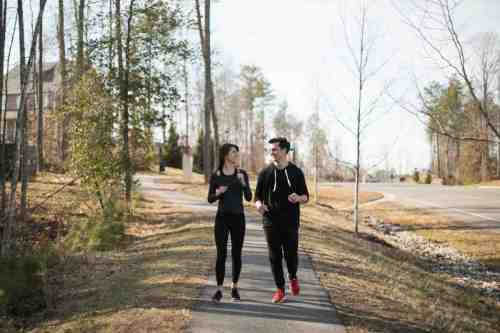 01 Couple - Neighborhood Trail - Run Walk Exercise - Family - Park