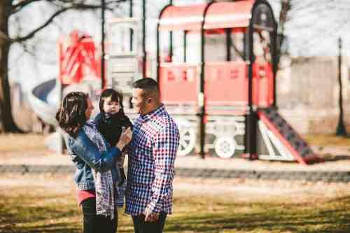 01 Family Mom Dad Baby - Jefferson Park - Church Hill Neighborhood - Playground - Friendly Safe Happy