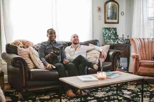 01 Richmond Virginia Northside - Home House Design - Living Room - Couple Gay LGBT - Dog