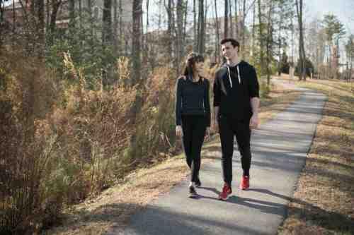 02 Couple - Neighborhood Trail - Run Walk Exercise - Family - Park