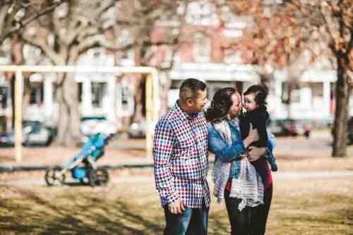 02 Family Mom Dad Baby - Jefferson Park - Church Hill Neighborhood - Playground - Friendly Safe Happy