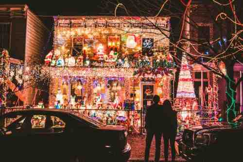 02 Richmond Virginia Neighborhood - Tacky Light Tour - Winter Holiday Christmas - Home House Lights Decorate