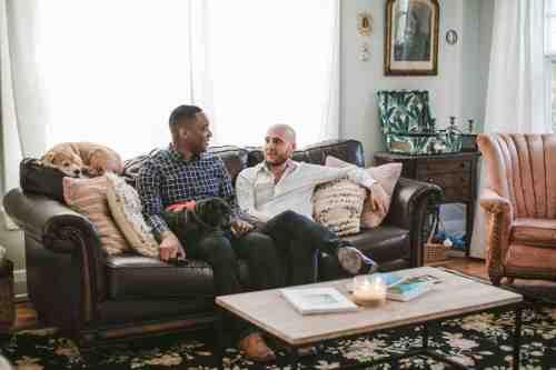 02 Richmond Virginia Northside - Home House Design - Living Room - Couple Gay LGBT - Dog