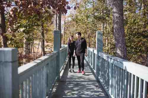 03 Couple - Neighborhood Trail - Run Walk Exercise - Family - Park