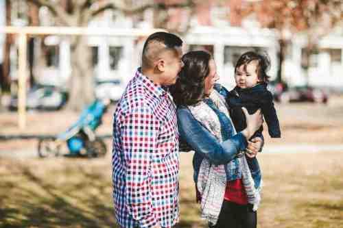 03 Family Mom Dad Baby - Jefferson Park - Church Hill Neighborhood - Playground - Friendly Safe Happy