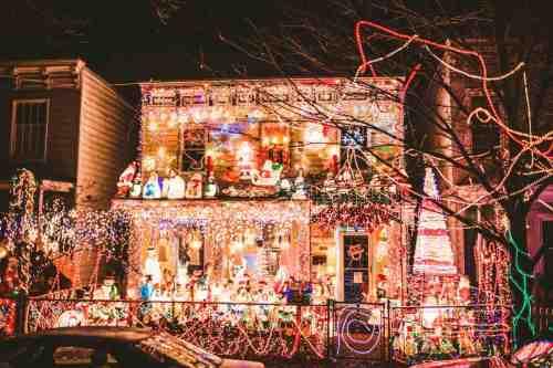 03 Richmond Virginia Neighborhood - Tacky Light Tour - Winter Holiday Christmas - Home House Lights Decorate