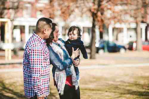 04 Family Mom Dad Baby - Jefferson Park - Church Hill Neighborhood - Playground - Friendly Safe Happy