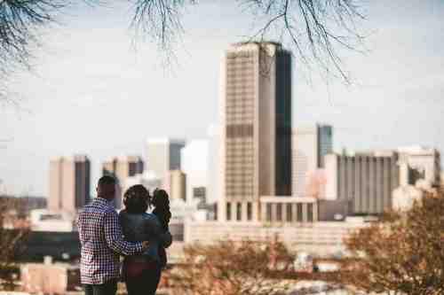 04 Family Mom Dad Baby - Jefferson Park - Richmond Skyline - Downtown - Friendly Safe Happy