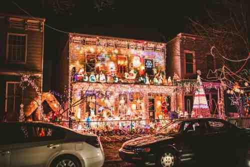 04 Richmond Virginia Neighborhood - Tacky Light Tour - Winter Holiday Christmas - Home House Lights Decorate