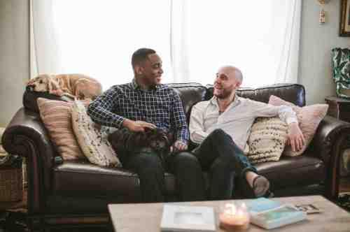 04 Richmond Virginia Northside - Home House Design - Living Room - Couple Gay LGBT - Dog
