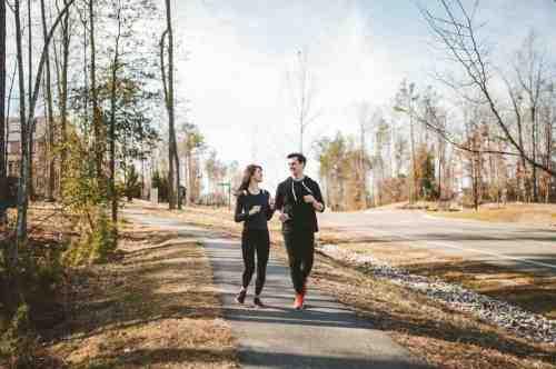 05 Couple - Neighborhood Trail - Run Walk Exercise - Family - Park