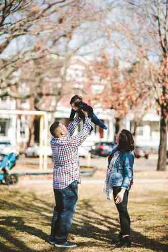 05 Family Mom Dad Baby - Jefferson Park - Church Hill Neighborhood - Playground - Friendly Safe Happy