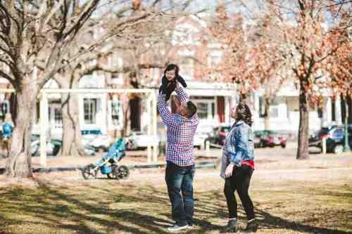 06 Family Mom Dad Baby - Jefferson Park - Church Hill Neighborhood - Playground - Friendly Safe Happy