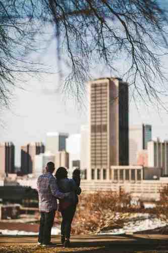06 Family Mom Dad Baby - Jefferson Park - Richmond Skyline - Downtown - Friendly Safe Happy