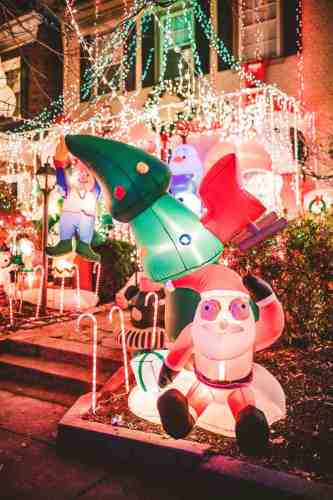 06 Richmond Virginia Neighborhood - Tacky Light Tour - Winter Holiday Christmas - Home House Lights Decorate