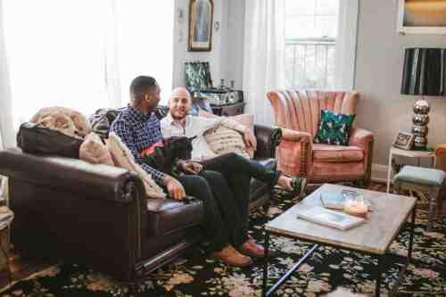 06 Richmond Virginia Northside - Home House Design - Living Room - Couple Gay LGBT - Dog