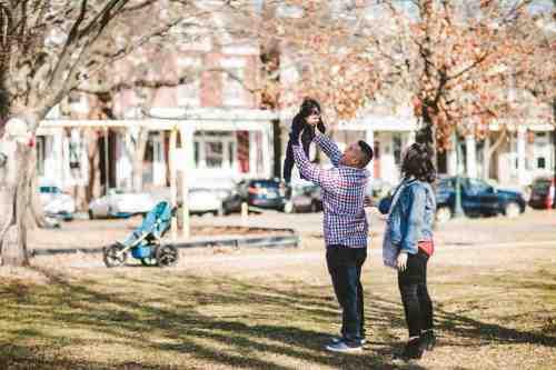 07 Family Mom Dad Baby - Jefferson Park - Church Hill Neighborhood - Playground - Friendly Safe Happy