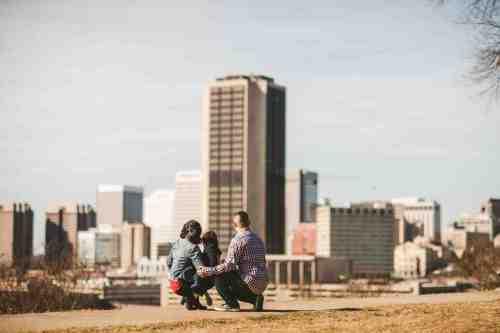 07 Family Mom Dad Baby - Jefferson Park - Richmond Skyline - Downtown - Friendly Safe Happy