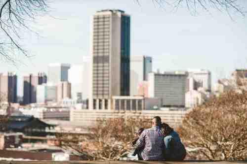 08 Family Mom Dad Baby - Jefferson Park - Richmond Skyline - Downtown - Friendly Safe Happy