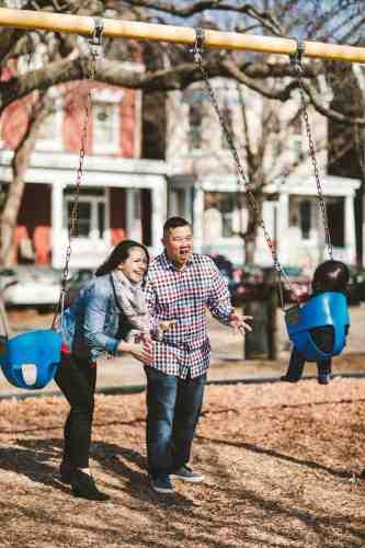 09 Family Mom Dad Baby - Jefferson Park - Church Hill Neighborhood - Playground - Friendly Safe Happy