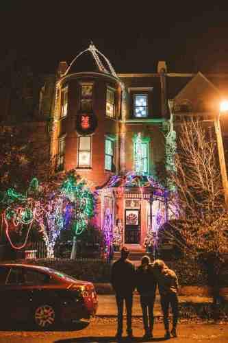10 Richmond Virginia Neighborhood - Tacky Light Tour - Winter Holiday Christmas - Home House Lights Decorate