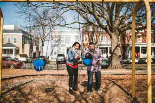 16 Family Mom Dad Baby - Jefferson Park - Church Hill Neighborhood - Playground - Friendly Safe Happy