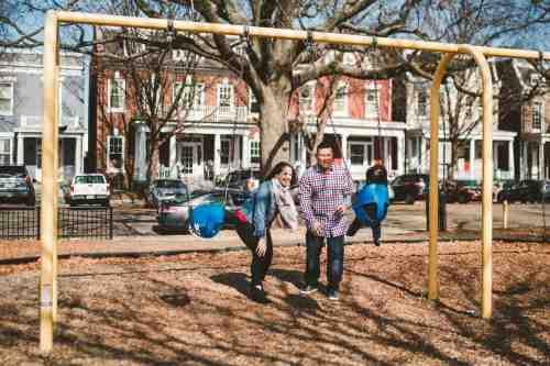 17 Family Mom Dad Baby - Jefferson Park - Church Hill Neighborhood - Playground - Friendly Safe Happy