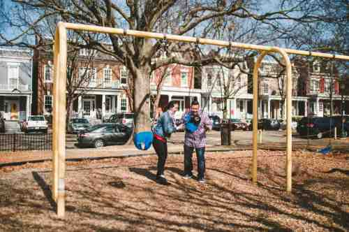 18 Family Mom Dad Baby - Jefferson Park - Church Hill Neighborhood - Playground - Friendly Safe Happy