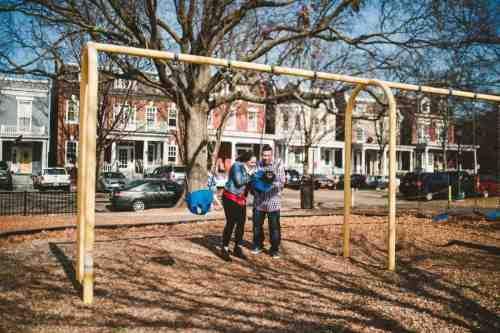 19 Family Mom Dad Baby - Jefferson Park - Church Hill Neighborhood - Playground - Friendly Safe Happy