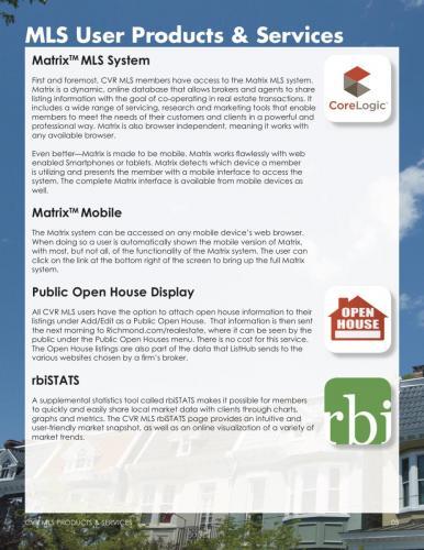 Matrix MLS Sytsem, Public Open House & rbiSTATS