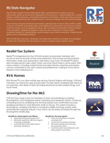 RE/Stats Navigator, Realist Tax System, RVA Homes