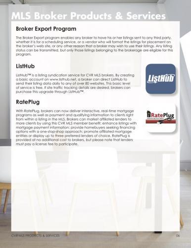 Broker Export Program, ListHub & RatePlug